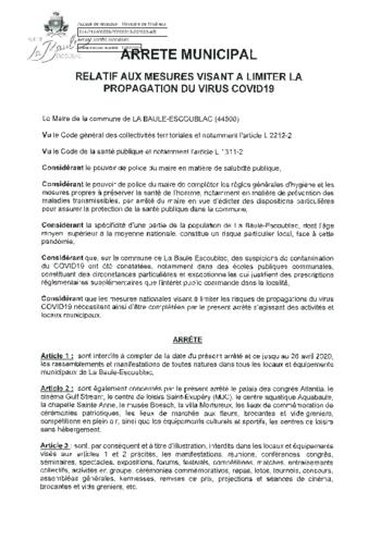COVID-19 : mesures exceptionnelles de prévention