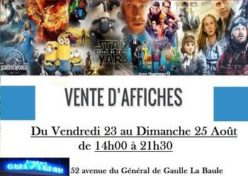 VENTE D'AFFICHE DU 23 AU DIMANCHE 25 AOÛT